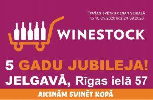 Winestock veikalam Jelgavā – 5 gadi!